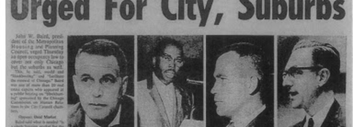 The Vault: Baird & Warner's Long History of Advocating for Fair Housing Rights