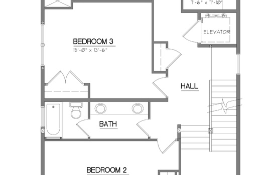 High Street Bldg 1 Second Floor Plan
