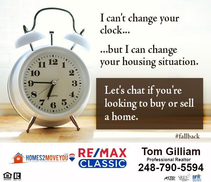 Fall Time Change and Real Estate Similarities-Realtor Tom Gilliam