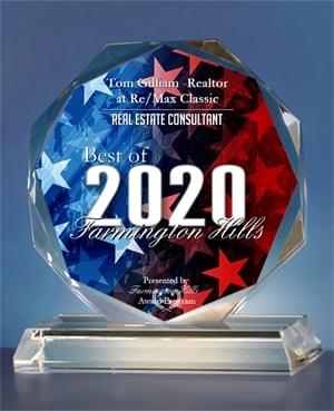 2020 Best of Farmington Hills REALTOR - Tom Gilliam