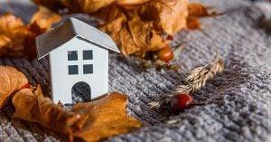 homes in fall season