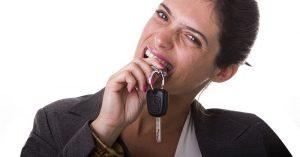 women with car keys