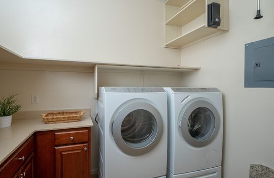 Large laundry Room With Built-Ins