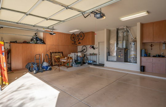 Massive Garage With Built-Ins and Side Access Door