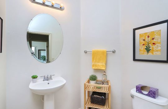 Half Bath Off Living Space