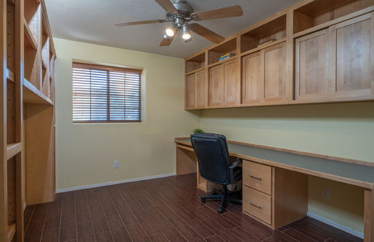 4th Guest Bedroom ( Lower Level- currently a den with built-ins)