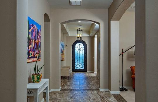 Dramatic Hall With Custom Tile Inlay