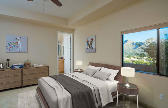 First Guest Bedroom With Full Private Attached Bath- Virtually Staged