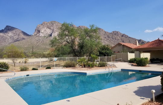 Community Pool With Mountain Views