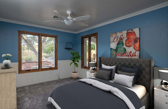 First Guest Bedroom- Lower Level-Shot 1-Staged