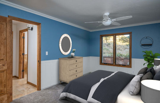 First Guest Bedroom- Lower Level-Shot 2-Staged