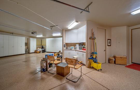 Huge Garage With Workshop and Separate Storage Room