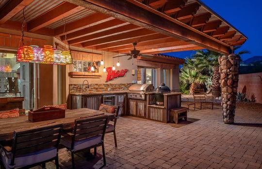 Twilight Shot 3—Outdoor Kitchen-Dining