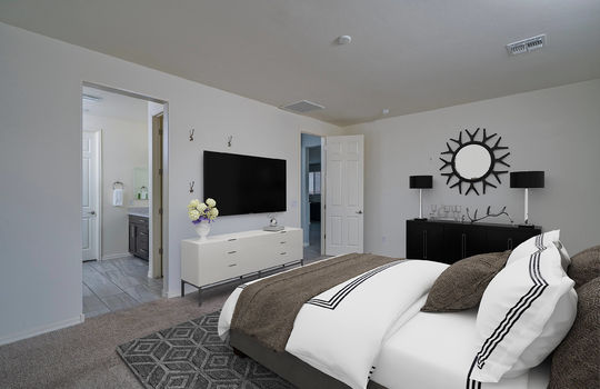 Primary Bedroom Shot 2-Digitally Staged