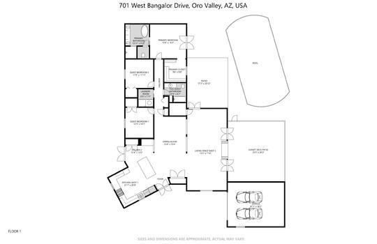 701 W Bangalor Floorplan