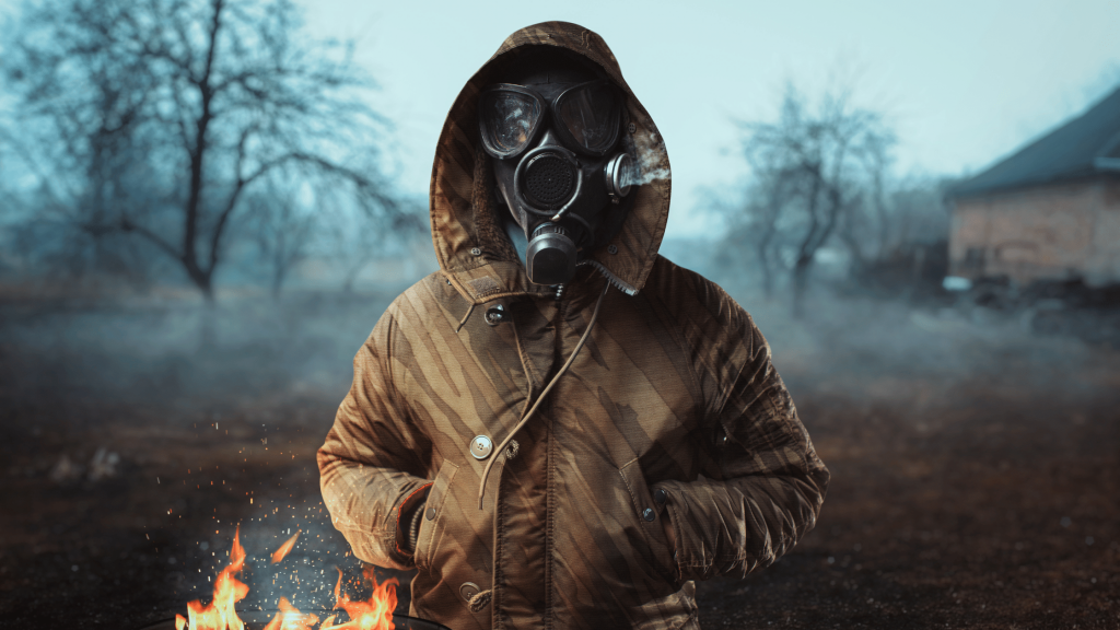 Doomsday Blog - Man in gas mask