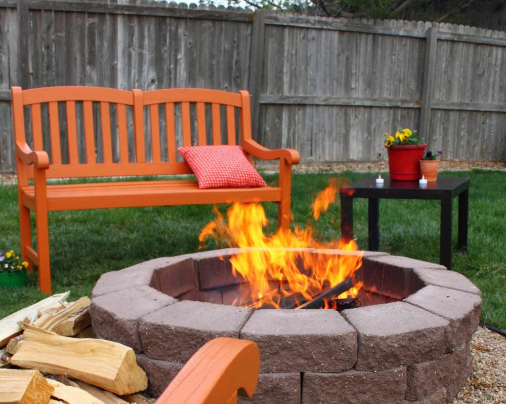 Build your own fire pit outdoors