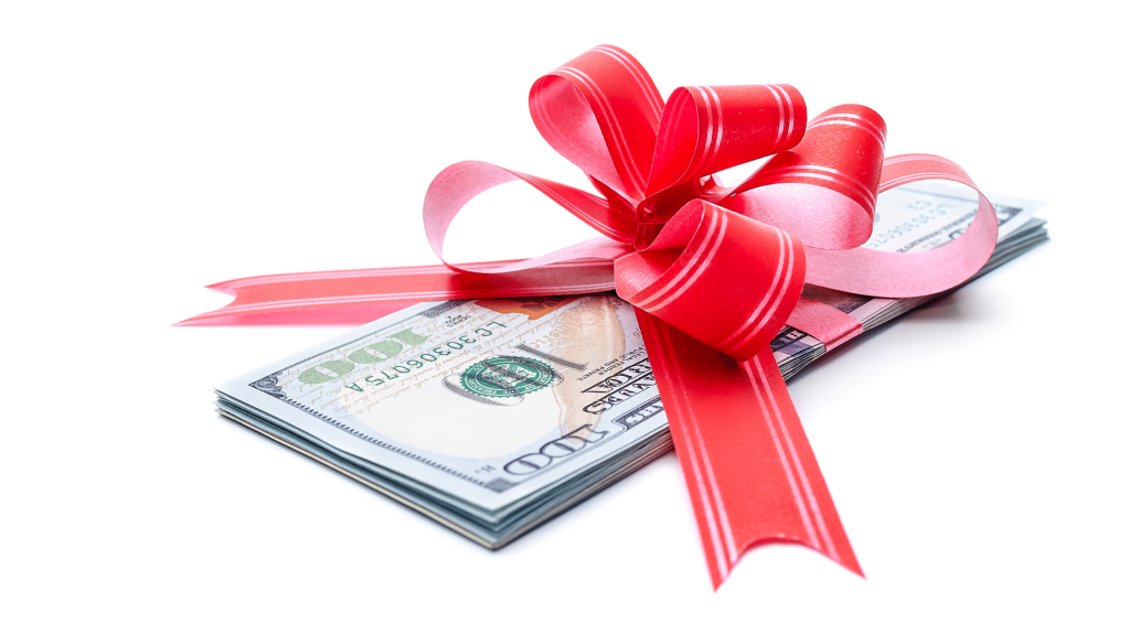 Funding a Down Payment - Money Wrapped in a Bow