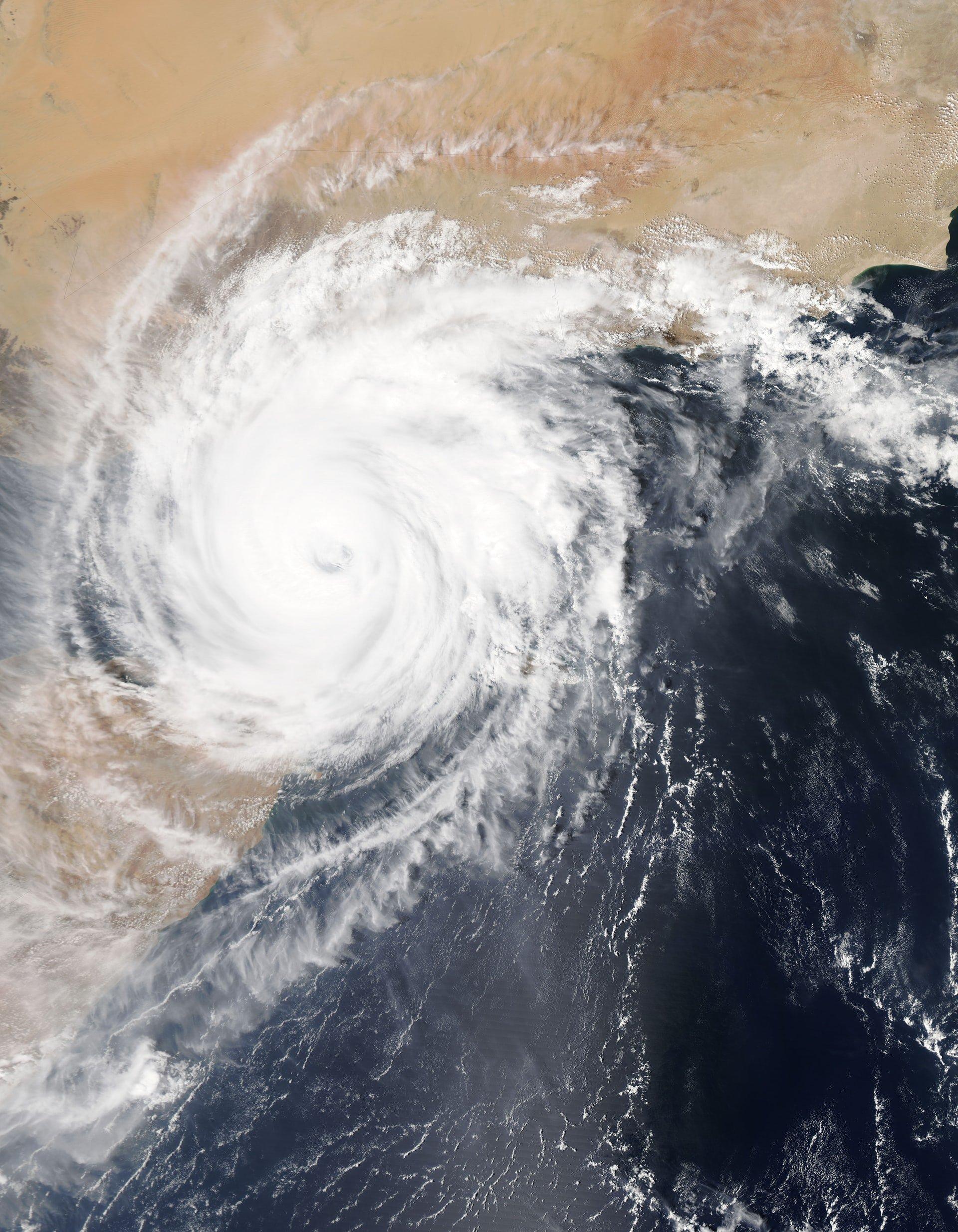 Sattelite image of Major storm
