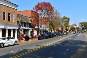 View of Main Street in Davidson, NC