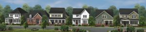 Rendering of rear load homes for WestBranch in Davidson