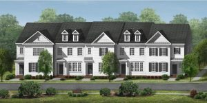 Rendering of townhomes for WestBranch in Davidson