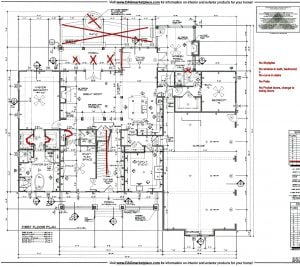 3211 Maple Way Drive First Floor Plan Lot 1