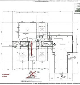 3211 Maple Way Drive Second Floor Plan Lot 1
