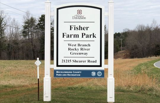 3005 Maple Way Drive Fisher Farm Sign