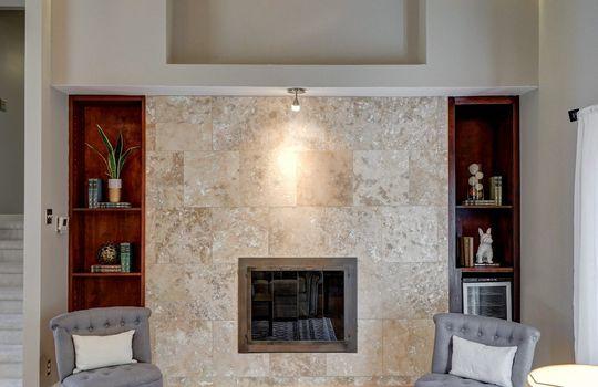 2123 Davis Road fireplace