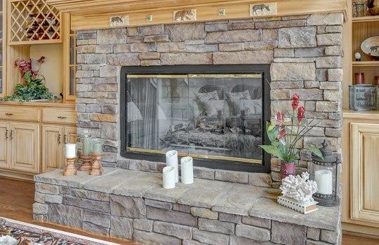 15536 Fishermans Rest Court Cornelius NC 28031 – Bill Adams – Allen Adams Realty – living room fireplace