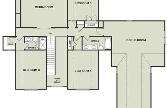 Second Floor - 3211 Maple Way Drive Davidson NC 28036 - Bill Adams Realtor - Allen Adams Realty - Maple Grove