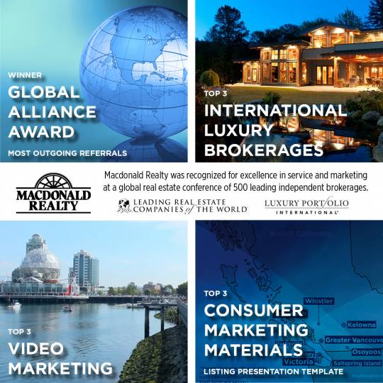 Macdonald Realty Recognized for Excellence in Service and Marketing at Global Real Estate Conference