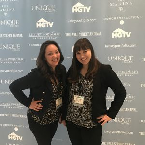 Macdonald Realty's Luxury Home Marketing Team of Alyssa Mori and Rosey Hudson at the Luxury Portfolio Summit in Miami Beach.