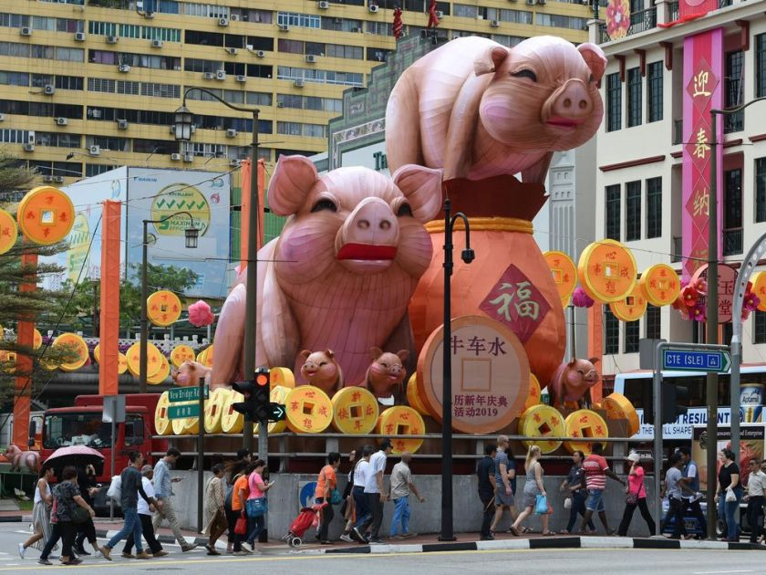 The symbol of the pig 'has always been blessed with good fortune'