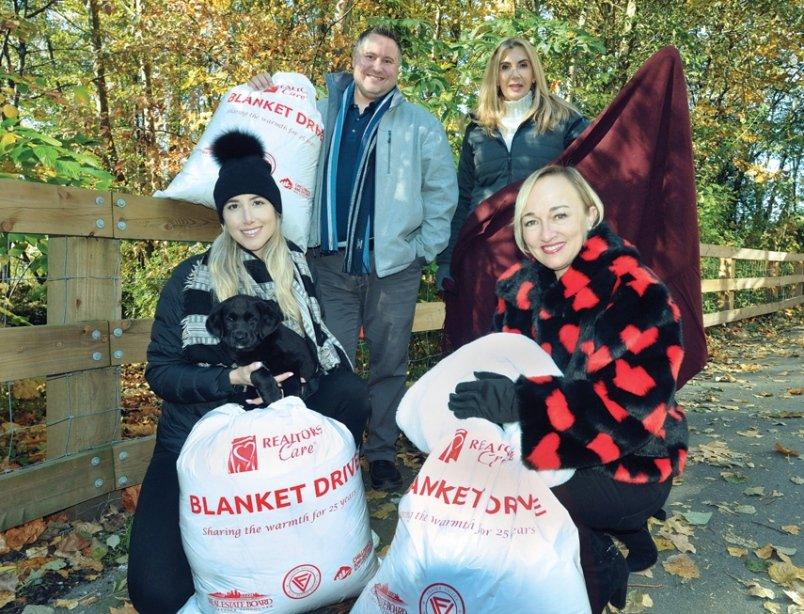 Realtors launch annual blanket drive to provide warm clothes for those in need