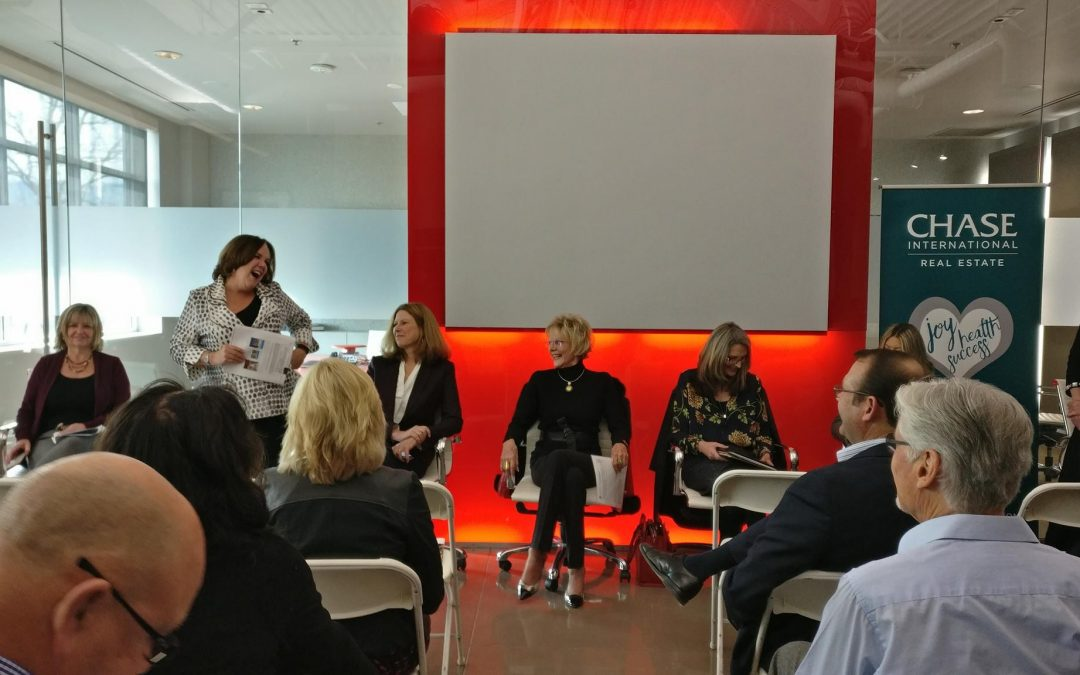 Chase International hosts luxury real estate agent panel presentation.