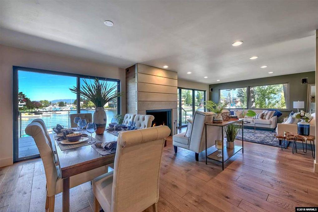 tahoe keys waterfront living room