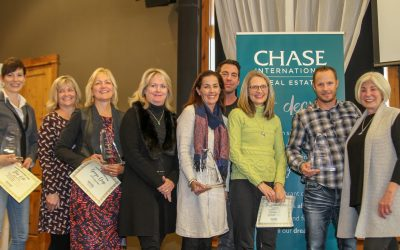 Brent Johnson, Jack Cote, Donovan Group and Ross-Huffner win Agents and Teams of the Year for 2018 at Chase International.