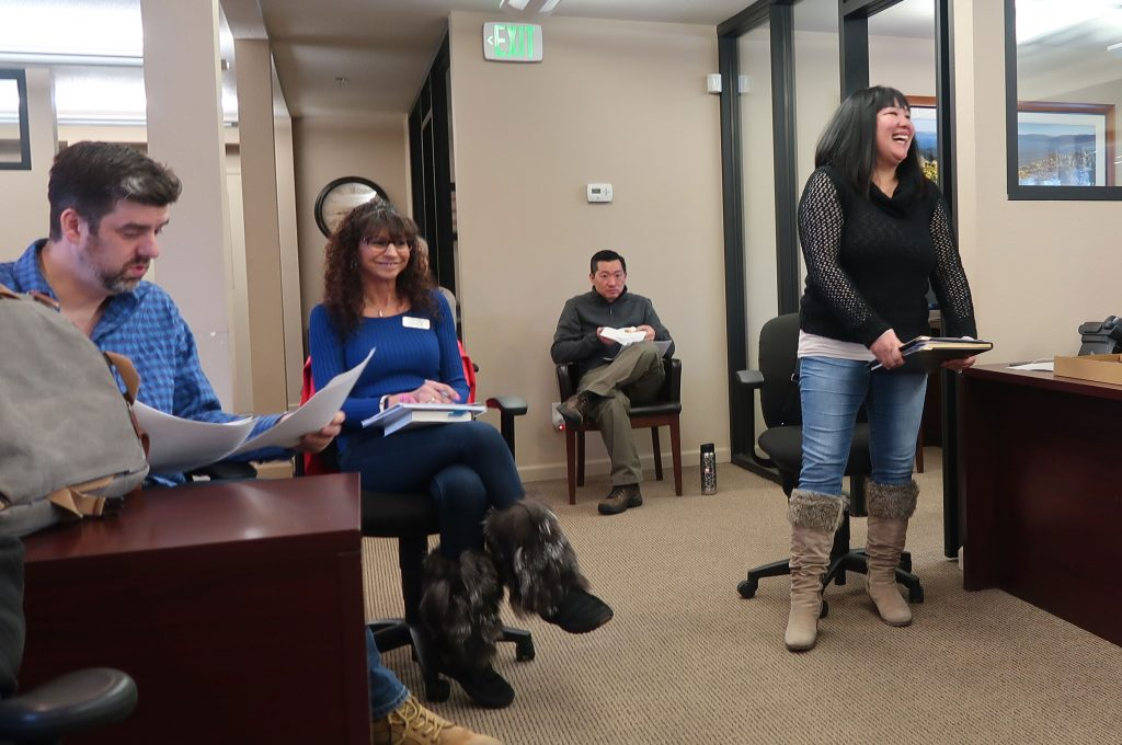 Realtors at Office Meeting Chase International South Lake Tahoe