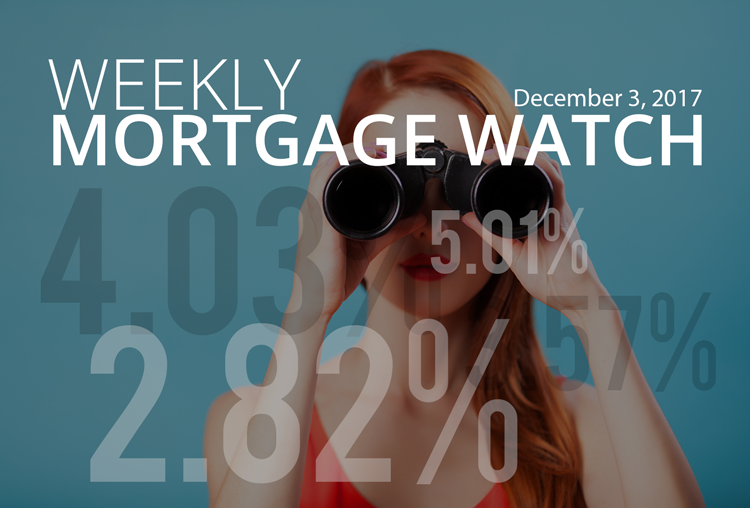 Weekly Mortgage Watch – December 3, 2017 [Infographic]