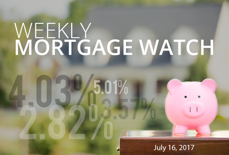 Weekly Mortgage Watch – July 16, 2017 [Infographic]