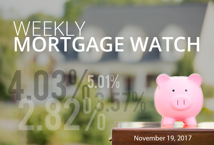 Weekly Mortgage Watch – November 19, 2017 [Infographic]