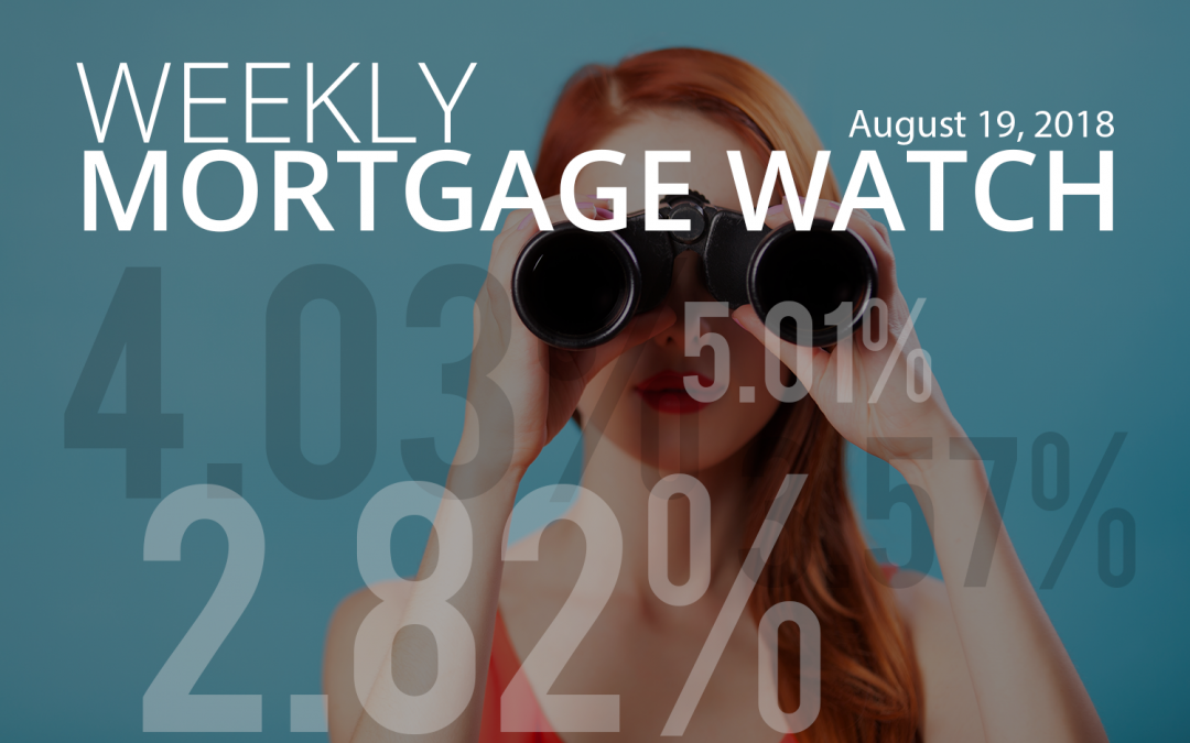 Weekly Mortgage Watch – August 19, 2018 [Infographic]