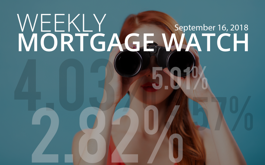 Weekly Mortgage Watch – September 16, 2018 [Infographic]