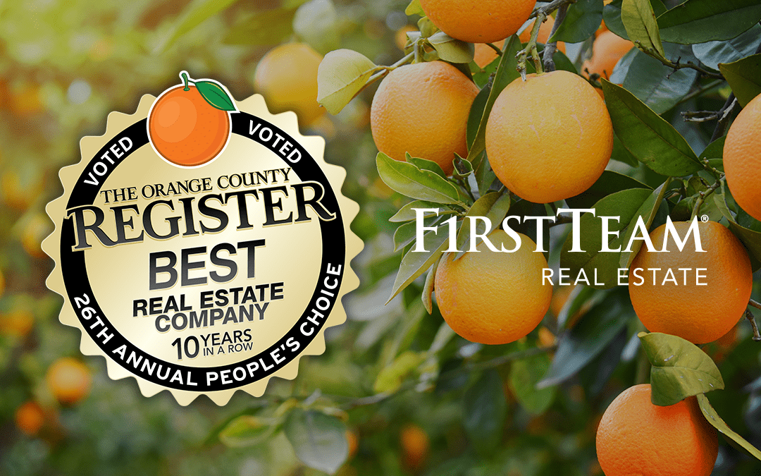 "First Team Real Estate Named ""Best Real Estate Company"" by OC Register For 10th Consecutive Year"