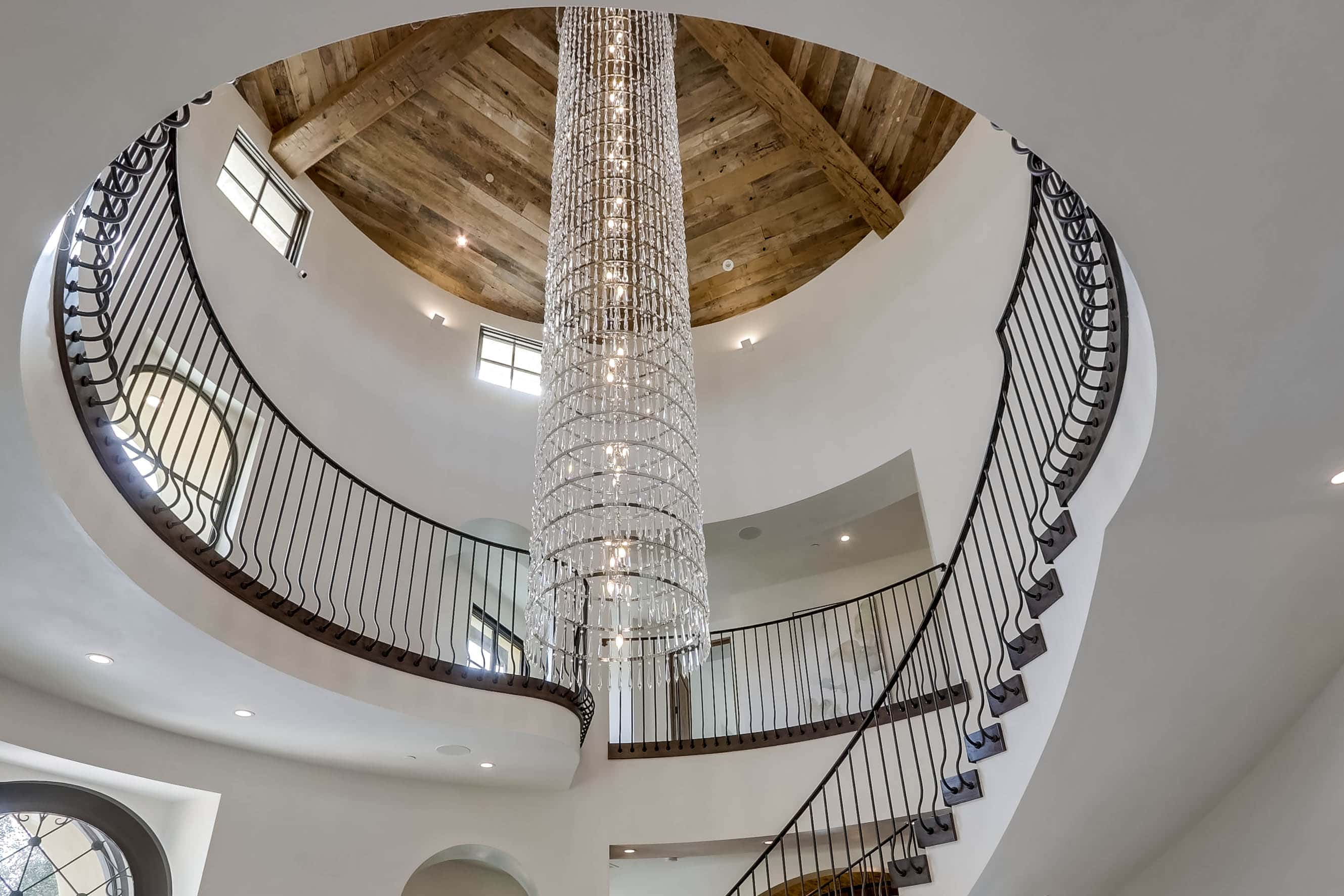 15-ft chandelier in entryway of 22355 Starwood Dr. Yorba Linda, CA