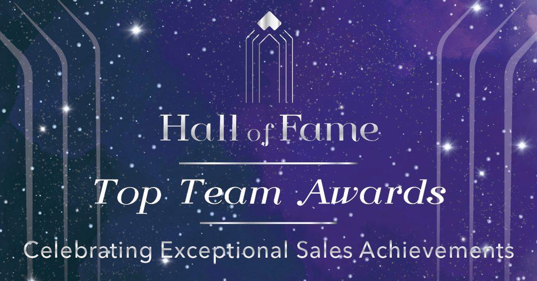 2019 Hall of Fame Top Team Award Winners