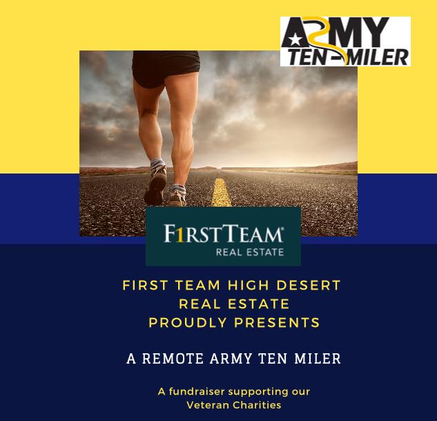Poster for First Team High Desert office sponsored Army Ten Miler Virtual Run