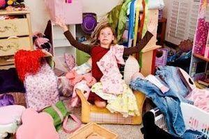 Cluttered Child's Bedroom